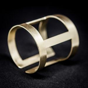 Handmade Geometric wide cuff bangle