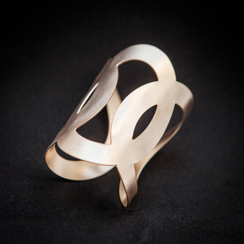 Wide Round cuff bracelet