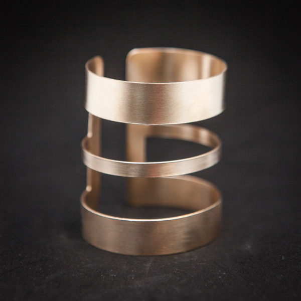 Extra wide custom made Cuff Bracelet 18k Rose Tone Gold plated, wirst bangle, Ancient Greek style