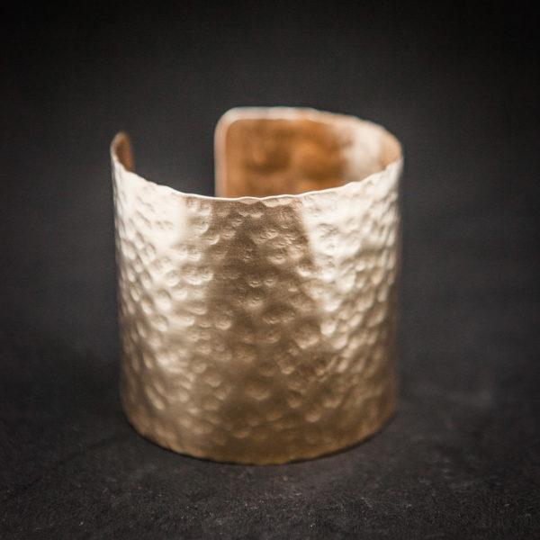 Simple hammered handmade wrist bangle