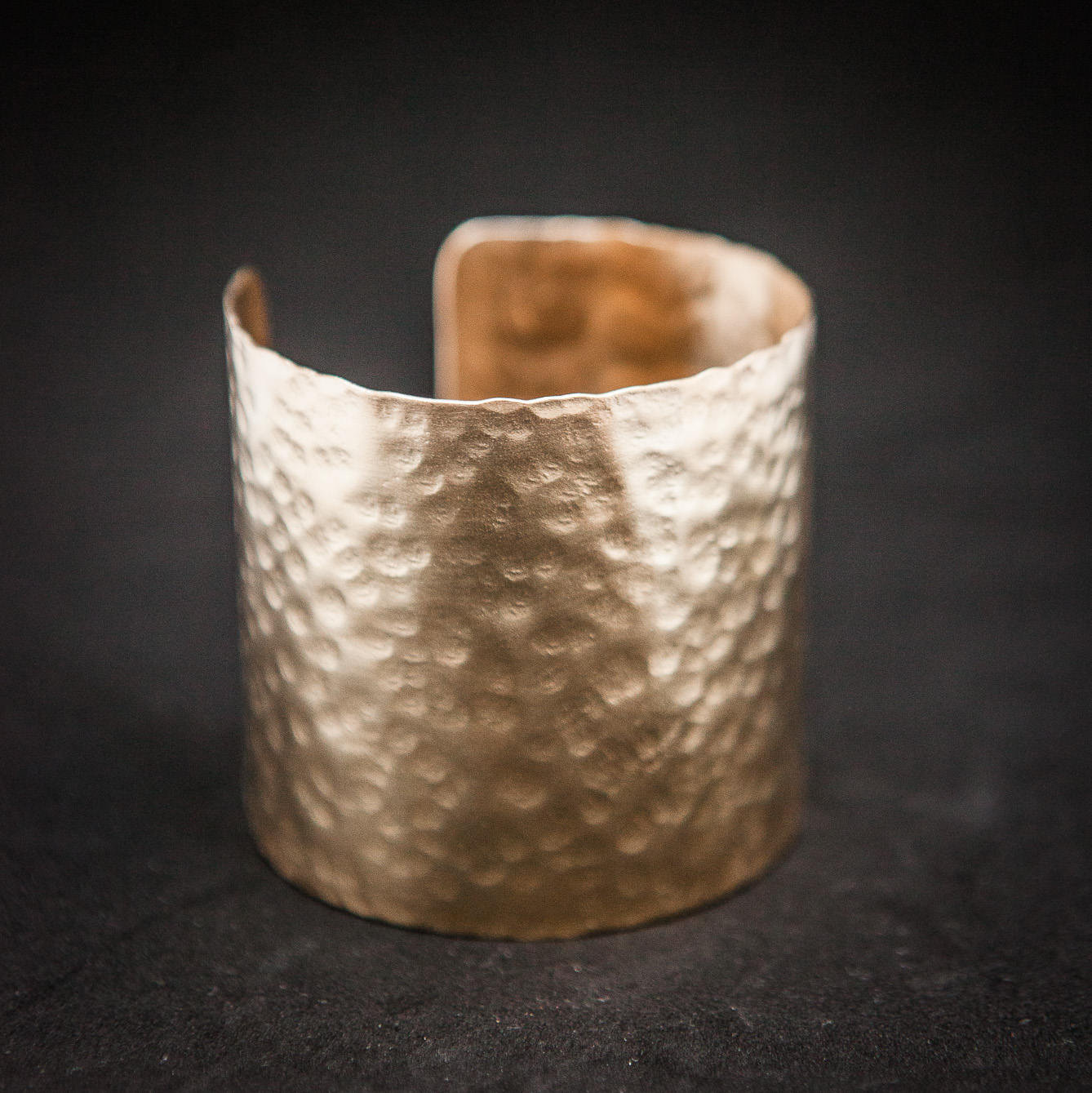 Simple hammered handmade wrist bangle