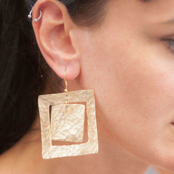 Unique Gold Plated Handmade earrings